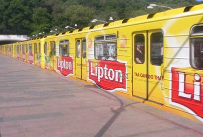 Брендирование подвижного состава метро